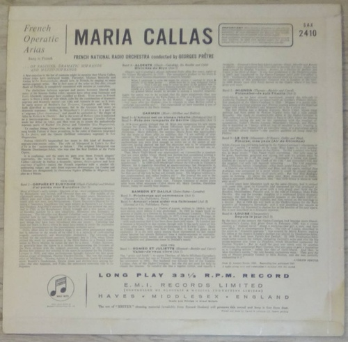 Maria Callas - Great Arias from French Operas